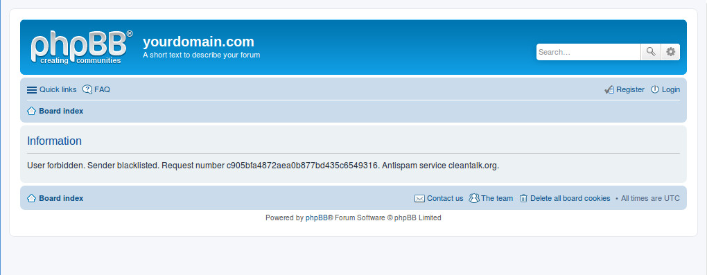 phpBB • Anti-Spam by CleanTalk (Spam protection without CAPTCHA