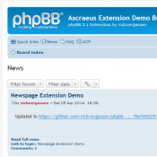 phpBB 3.1 Newspage Extension