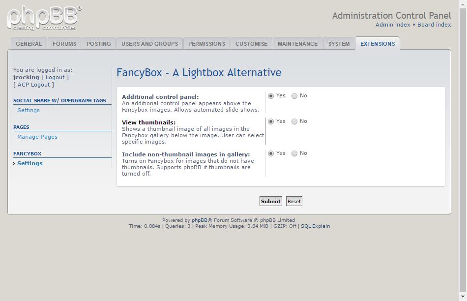 phpBB • Fancybox - A Lightbox Alternative - Contribution Details