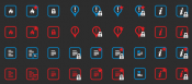 Dark Style Forum & Topic Icons - Prosilver Based