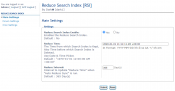 Reduce Search Index