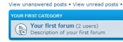 Visit counter by forum