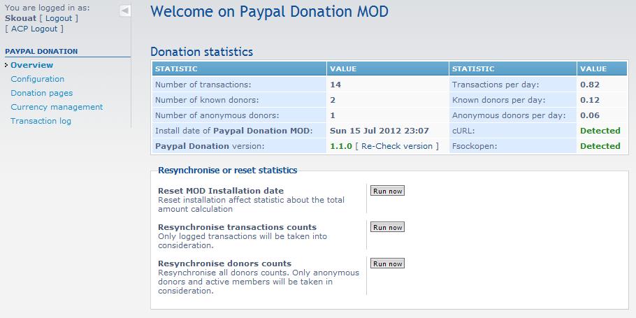 phpBB • Paypal Donation MOD development status - Paypal