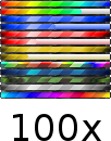 Rainbow Stripes Bar Ranks